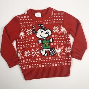 Peanuts Snoopy Toddler Boys Christmas Sweater 4T